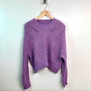 Elizabeth and James Purple Shimmer Sweater